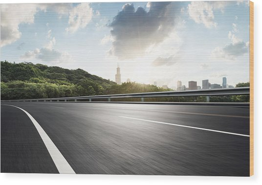 Urban Road,usa Wood Print by Yubo