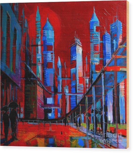 Urban Vision - City Of The Future Wood Print