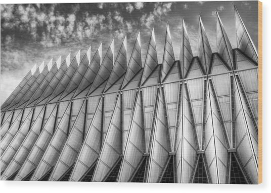 Us Air Force Academy Chapel Colorado Springs Wood Print