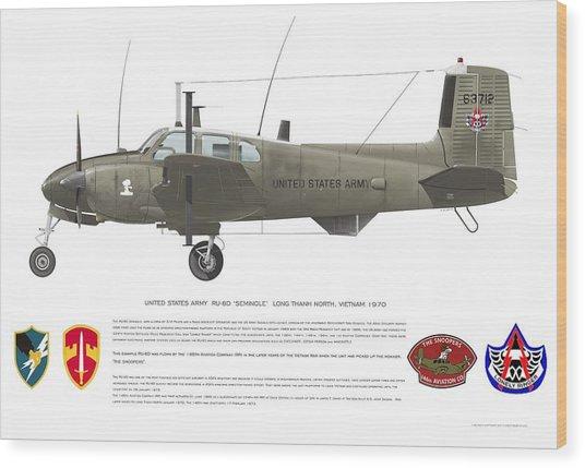 U.s. Army Ru-8d 146th Wood Print