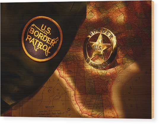 Us Border Patrol Wood Print by Daniel Alcocer