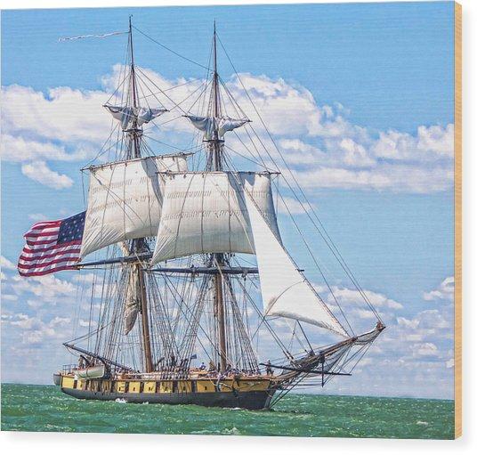 Us Brig Niagara  Wood Print