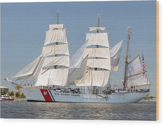 Us Coast Guard Eagle Wood Print