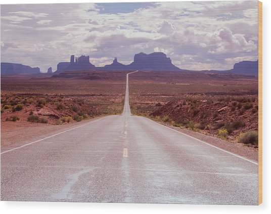 Us Highway 163 Wood Print