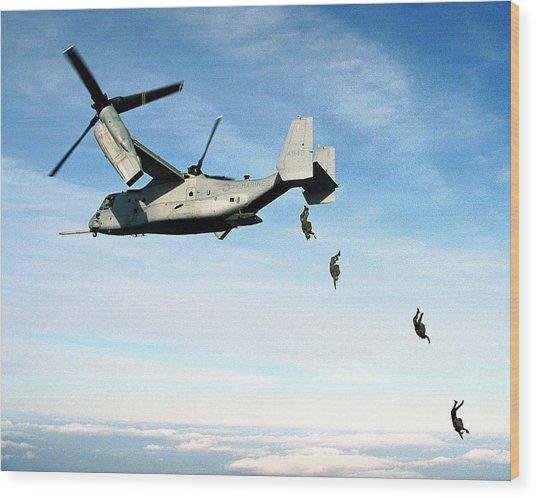 Us Marines Mv 22 Osprey Jan 17 2000 Wood Print