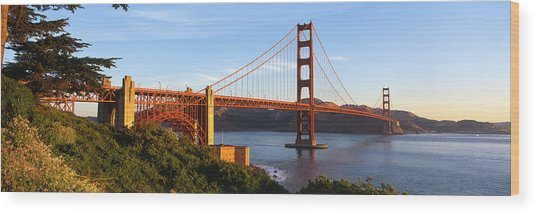 Usa, California, San Francisco, Golden Wood Print