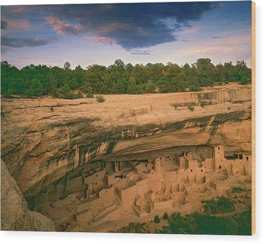 Usa, Colorado, Mesa Verde National Park Wood Print by Jaynes Gallery