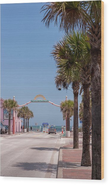 Usa, Florida, New Smyrna Beach, Flagler Wood Print