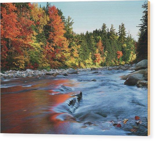 Usa, New Hampshire, White Mountains Wood Print