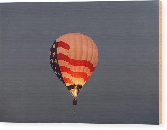 Usa Proud Wood Print