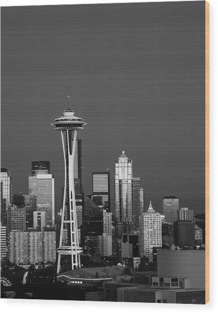 Usa, Washington State, Seattle, Space Wood Print by Adam Jones