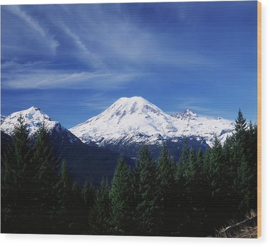 Usa, Washington State, View Of Mount Wood Print by Paul Souders
