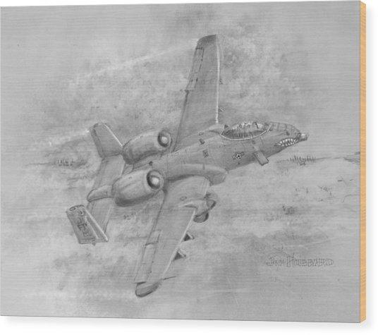 Usaf Fairchild-republic  A-10 Warthog Wood Print