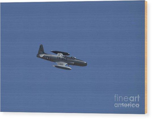Usaf Lockheed T-33 'tr-953' Fly By Wood Print