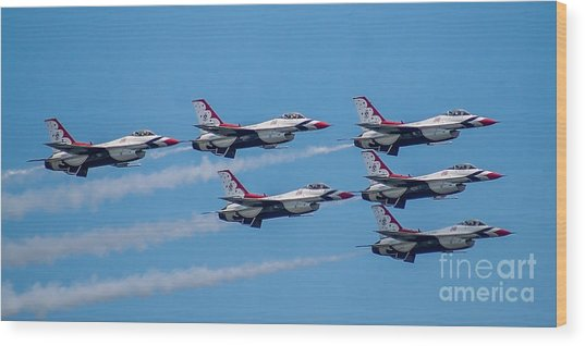 U.s.a.f. Thunderbirds Wood Print