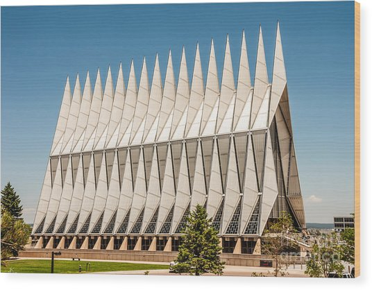 Air Force Academy Chapel Wood Print