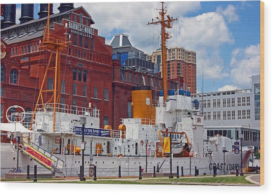 Uscg Cutter Taney Wood Print