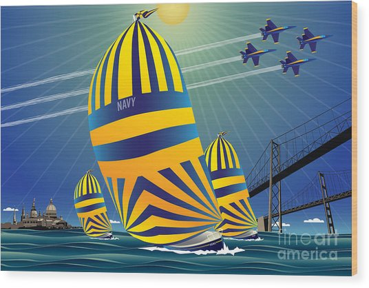 Usna High Noon Sail Wood Print
