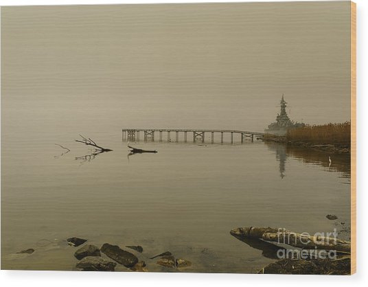 Uss Alabama Wood Print by Russell Christie