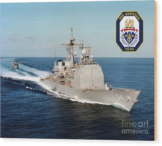 Uss Antietam Wood Print