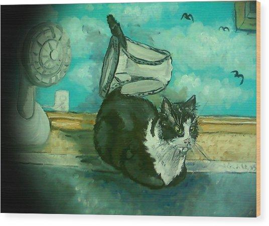 Uss Catboat Wood Print