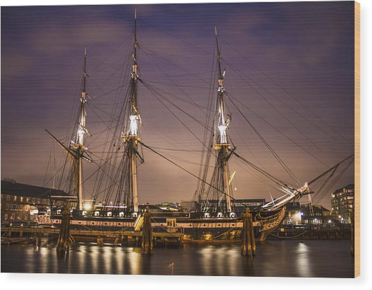 Uss Constitution Boston   Wood Print