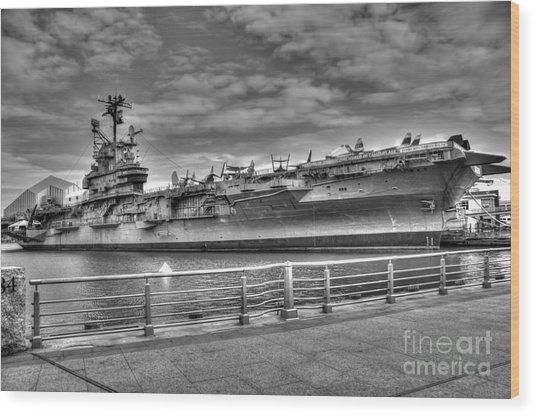 Uss Intrepid Wood Print