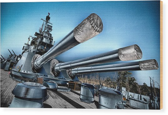 Uss North Carolina Battleship Wood Print