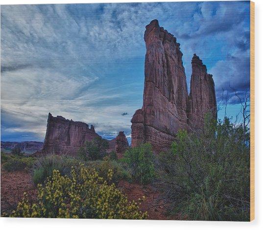 Utah Obelisk Wood Print