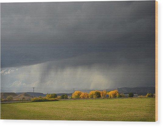Utah Storm - 2 Wood Print