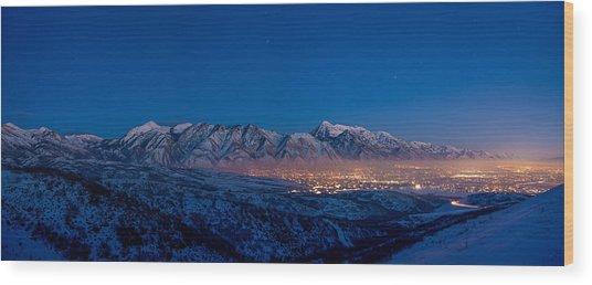 Utah Valley Wood Print