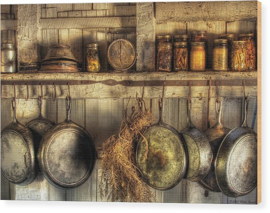 Utensils - Old Country Kitchen Wood Print