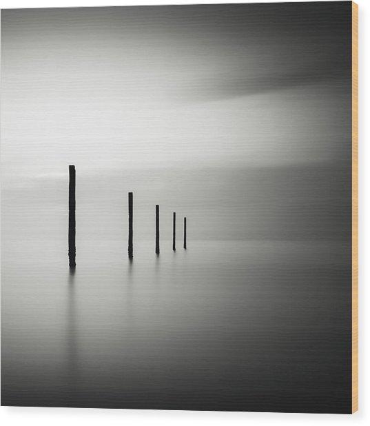 V Wood Print by Christophe Staelens