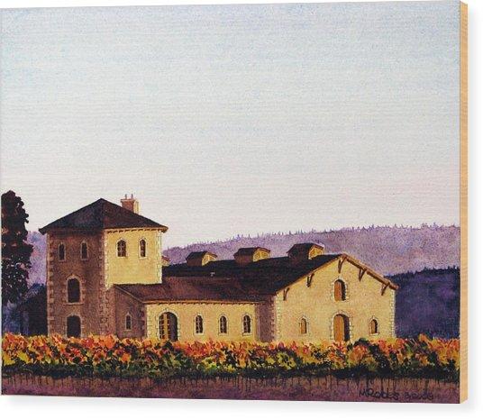 V. Sattui Winery Wood Print