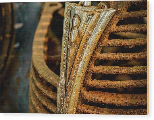 V8 Wood Print