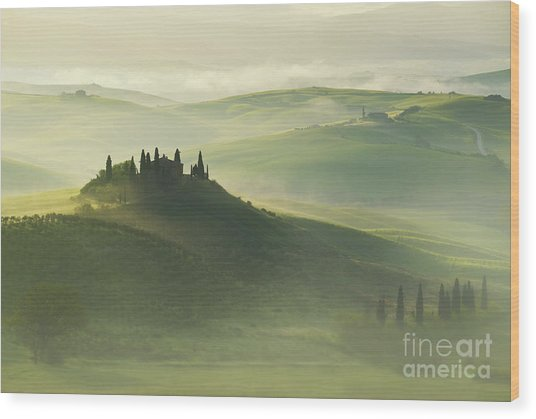 Val D'orcia Wood Print
