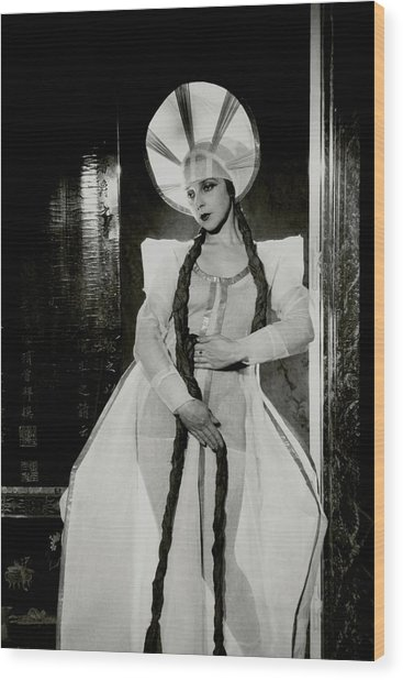 Valentina Koshubaas The Bride In Les Noces Wood Print by Cecil Beaton