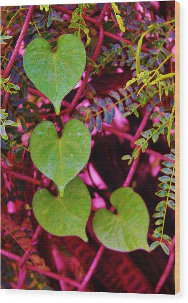 Valentine Au Natural Wood Print