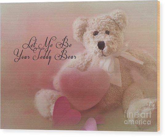 Valentine Bear 2 Wood Print