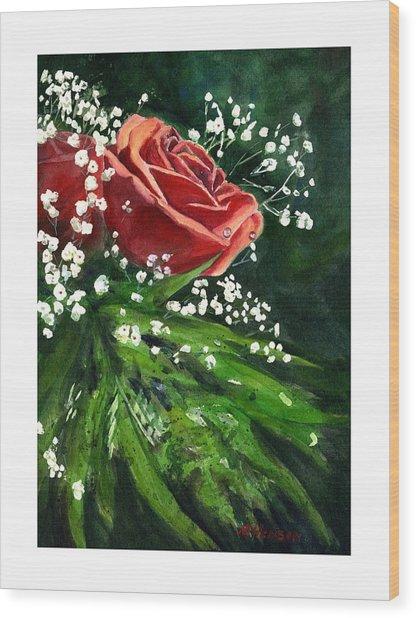 Valentine Rose Wood Print