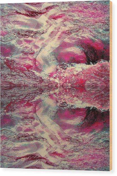 Valentines River Wood Print by Frank Sciberras