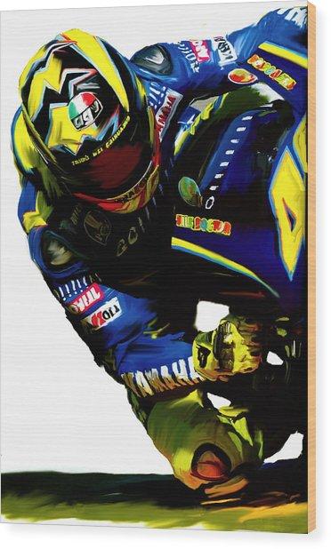 Valentino Rossi  Corner Speed IIi Wood Print