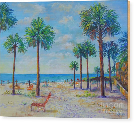 Valerie's View Of Siesta Key Wood Print