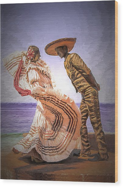 Vallarta Dancers Wood Print