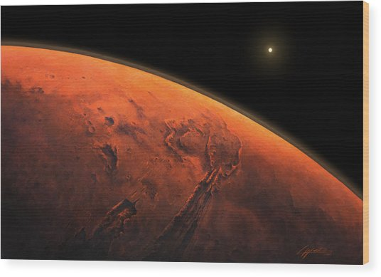 Valles Marineris Sunrise Wood Print