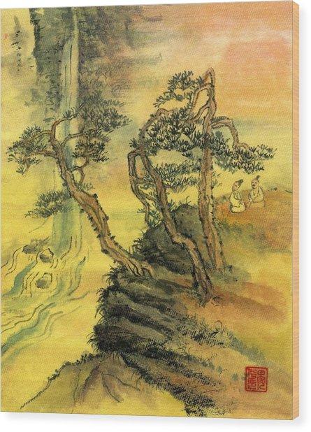 Valley Echo Wood Print