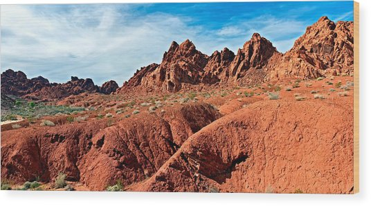 Valley Of Fire Pano Wood Print