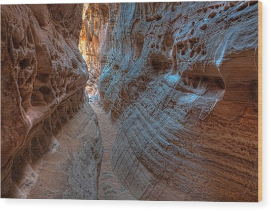 Valley Of Fire Slot Canyon Wood Print
