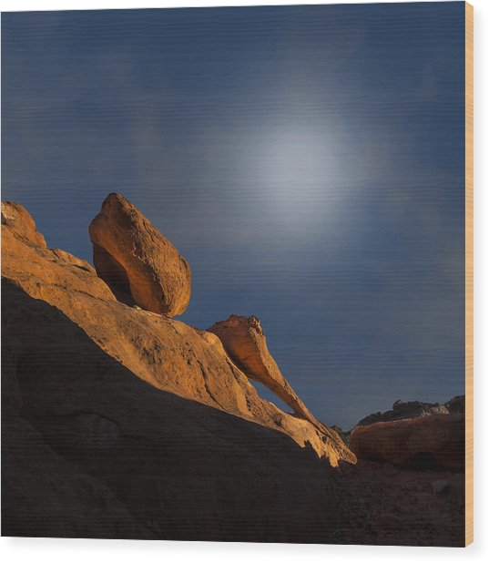 Valley Of Fire Square One Wood Print
