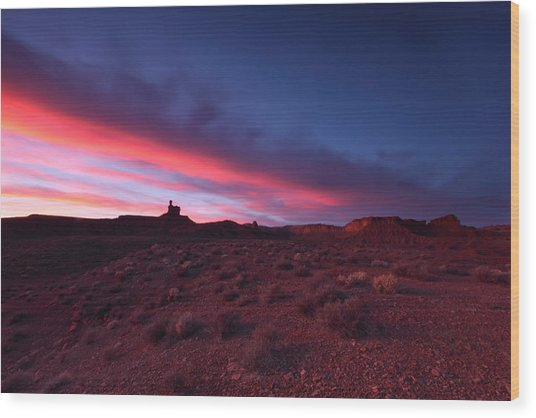 Valley Of The Gods Wood Print by Darryl Wilkinson